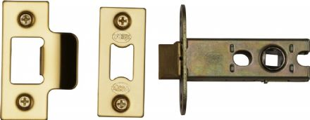 M Marcus York Security YKAL2-PB Architectural Mortice Latch 64mm Polished Brass